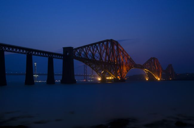 Steve Stamford | Forth rail bridge at night 2