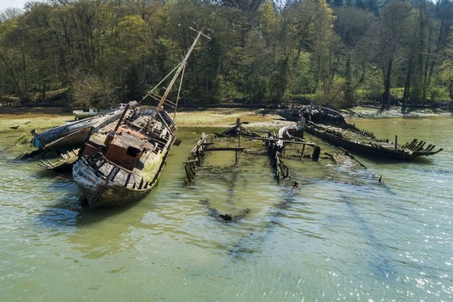 Steve Stamford | Pin mill wrecks arial 2
