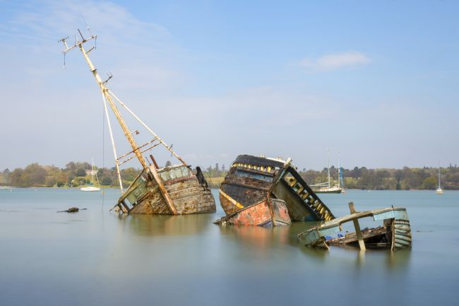 Steve Stamford | Pin Mill wrecks long exposure 3