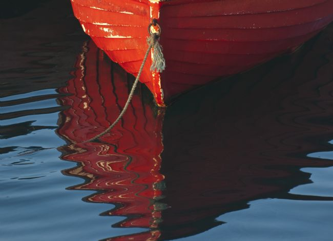 Mary Fletcher | Red Boat Reflection