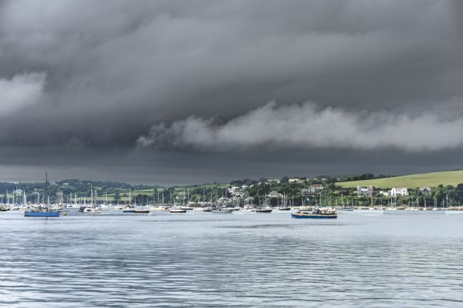 Mary Fletcher | Stormy skies over Falmouth