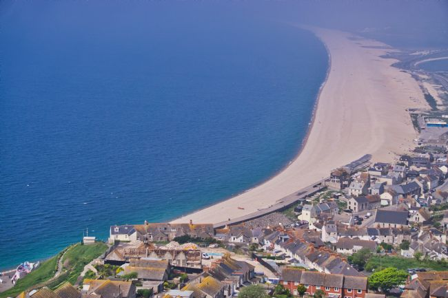 Chris Langley | Portland Town, Chesil Beach and sea mists, Dorset