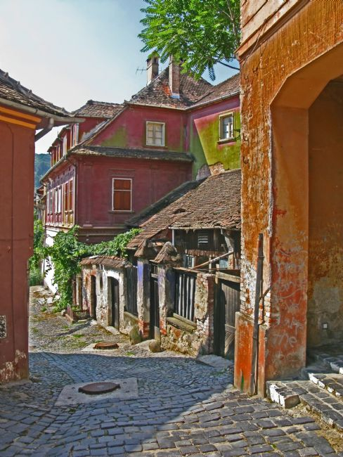 Chris Langley | Hillside Passage in old Sighisoara, Romania