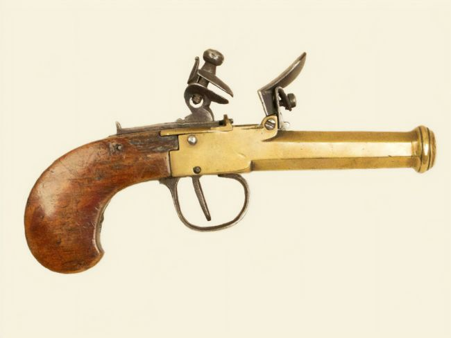 Chris Langley | BelgianFlintlock brass barrelled pocket pistol
