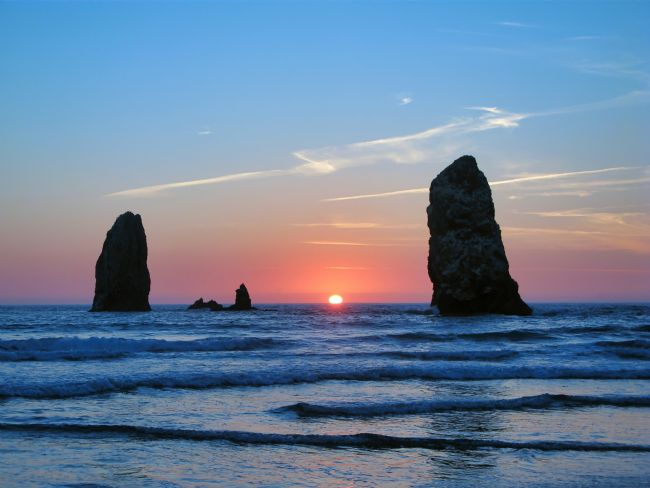 Chris Langley | Sunset at Cannon Beach