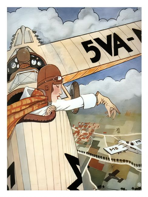 Chris Langley | Art Deco Aviation Poster 5VO