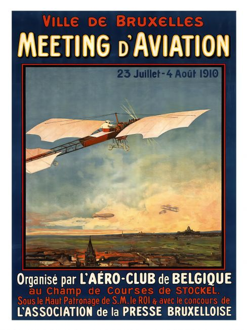 Chris Langley | Aviation  Meet, Brussels, Belgium 1910