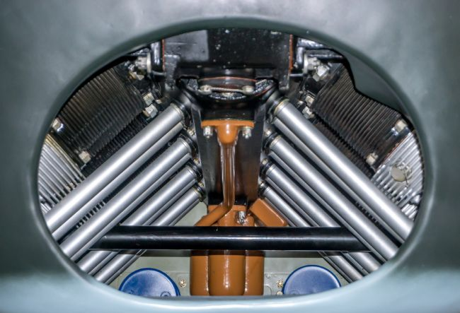 Chris Langley | Engine Cooling Bay, Fieseler Storch aircraft