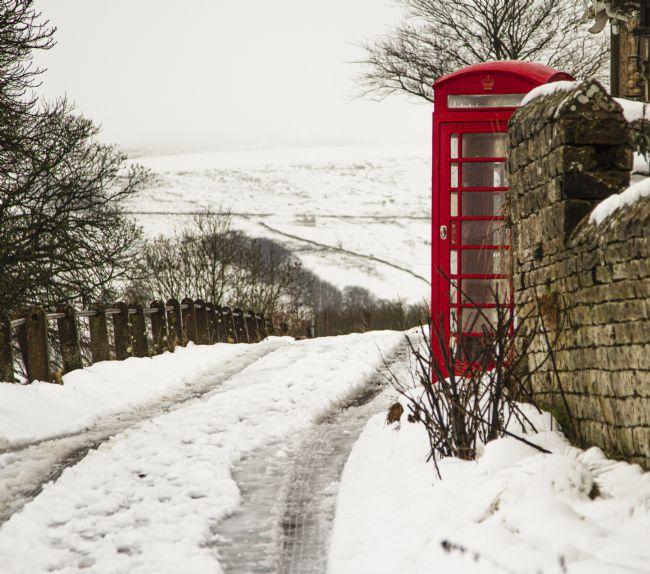 Sandra Cockayne ADPS...... | Red Telephone Box in the Snow