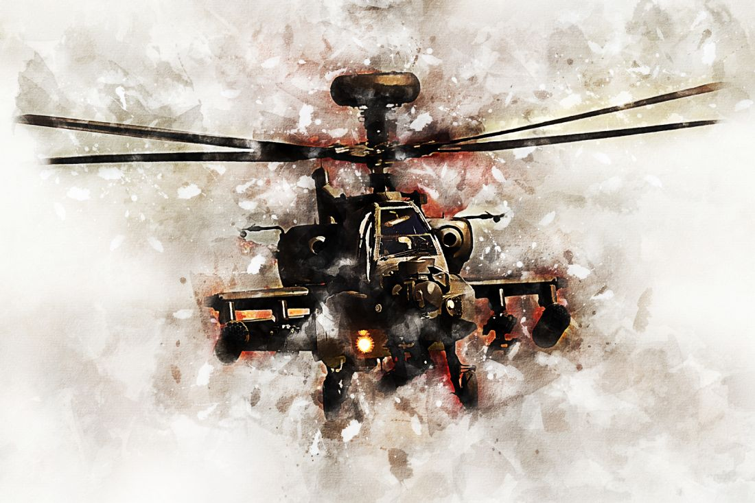 James Biggadike | Apache Gunship - Painting