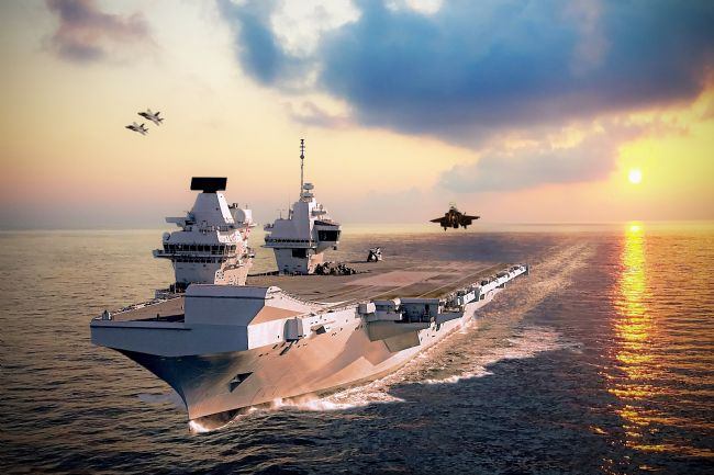 Airpower Art | F-35s and HMS Queen Elizabeth