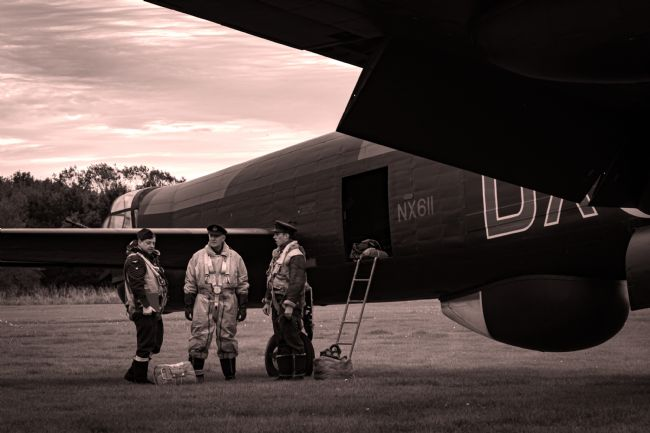 Airpower Art | Lancaster Crew