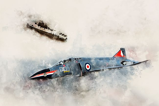 James Biggadike | Royal Navy Phantom - Painting