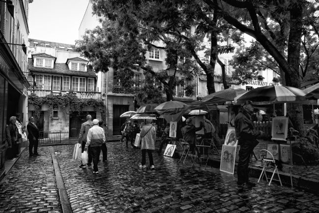 Lynn Bolt |  Montmartre in the Rain