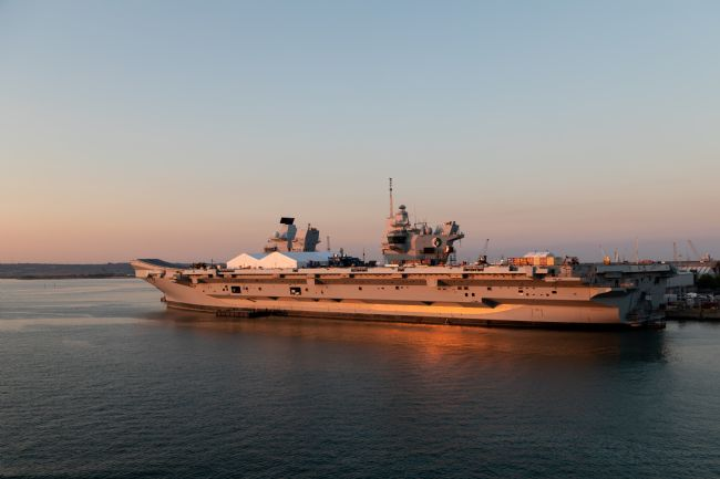 Michael Greaves | HMS Queen Elizabeth in the Portsmouth sunset