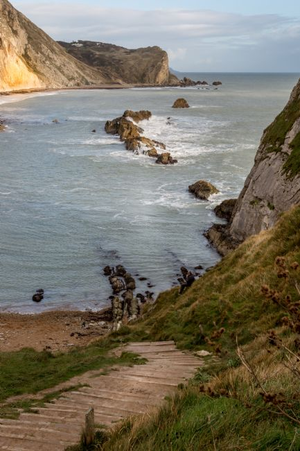 Michael Greaves | A view down the steps at Lulworth Cove