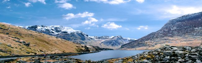 Warren Byrne | Blue Clouds Over Snowdonia Mountains