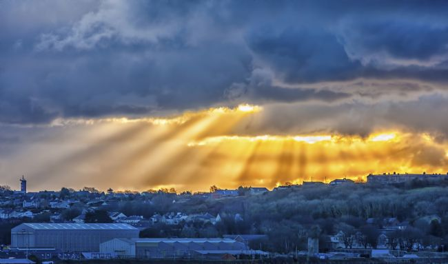 Jon Jones | Sunset over Pembroke Dock in Dyfed, Wales